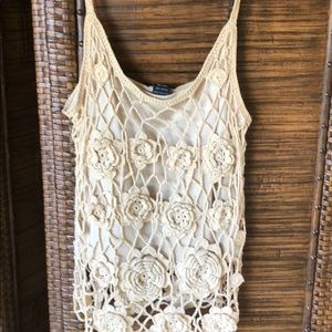 Crochet lined tank top
